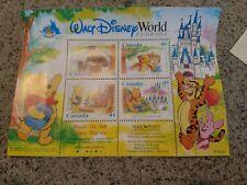 1996 Walt Disney World 25th Anniversary Winnie the Pooh 4 CANADA Stamps w/ COA