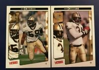 2001 Upper Deck Victory #207 #213 RICKY WILLIAMS & KEITH MITCHELL Lot 2 Saints