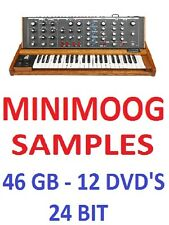 MINIMOOG SAMPLES - APPLE LOGIC PRO X  EXS-24 + WAV FORMATS - 12 DVD'S - 46 GB