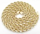 10k Yellow Gold Hollow 4mm Diamond Cut Rope Chain Men's Women's Necklace 18