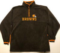 NFL Cleveland Browns Quarter Zip Sweater Football Size Large