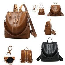 Hot Women Bag Soft Leather Double Shoulder Bag Large Capacity Messenger Backpack