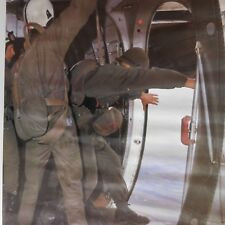 Poster saut jump parachute military aircraft avion militaire TRANSAL F DUJARDIN