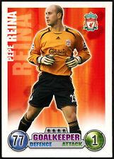 Pepe Reina, Liverpool Topps Match Attax Football 2007-2008 Trade Card (C395)