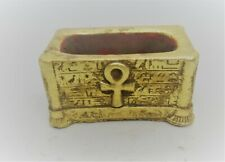 ANCIENT EGYPTIAN GOLD GILDED SAFEBOX BOX WITH HEIROGLYPHICS