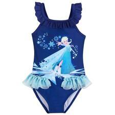 Disney Store Elsa Swimsuit Deluxe 1 pc Frozen 3,4,7/8,9/10 New NWT