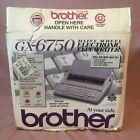 Brother GX-6750 Daisy Wheel Electronic Typewriter - OPEN BOX - Very Nice!