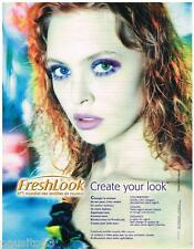 PUBLICITE ADVERTISING105 2002  FRESHLOOK   les lentilles de vue couleur 211015