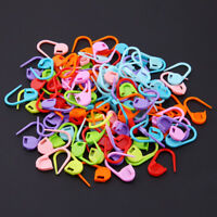 100pcs Locking Stitch Marker Lock Pins Plastic Ring Markers for Knitting Needles