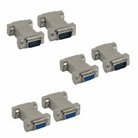 DB9 Male Female M/M M/F F/F Serial AT Null Modem Adapter Changer RS232 Crossover