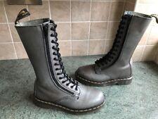 Dr. Martens 9733 Dark Grey Leather Double Zip Mid Calf Boots Sz4, EU37 England
