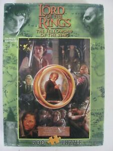 Lord of the Rings Fellowship of the Ring 500pc Puzzle Blue Opal 2001 - Complete