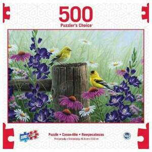 SURE LOX 500 PIECE PUZZLERS CHOICE GOLDFINCH MEADOW  48.26CM x 33.02CM