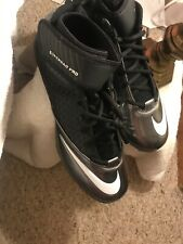 Nike Lunar Superbad Pro Td Molded Football Cleats Shoes Mid Black/Silver New
