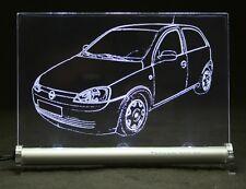 OPEL CORSA C 2t 3t come auto incisione su lastra di LED