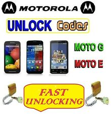 Unlock Code Motorola Moto E Moto XT1022 & XT1021 XT1524 XT1541 XT1540 Moto G2 G3