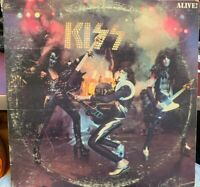 KISS ALIVE LP 1975 CASABLANCA NBLP-7020 GATEFOLD BLUE BOGART LABEL