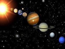 """Cosmos Solar System Space Fabric poster 17"""" x13"""" Decor 11"""