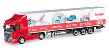 """HERPA 917155 - Scania R 2013 HL caja semi-remolque """"Puertas Abierto 2014"""" - 1:87"""