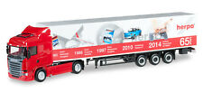 "HERPA 917155 - Scania R 2013 HL boîte semi-remorque ""Portes Ouvert 2014"" - 1:87"