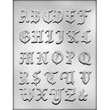 1-3/8 inch Fancy Alphabet Chocolate Candy Mold CK #14270 - New