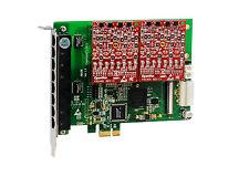 OpenVox A810E02 8 Port Analog PCI-E card base board + 0 FXS400 + 2 FXO400