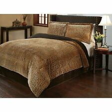 Animal Print Bedding Cheetah Comforter Set Full Queen Size Reversible NEW