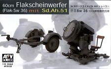 AFV Club 1/35 AF35125 WWII German 60cm Flakscheinwerfer (Sw 36) mit Sd.Ah.51