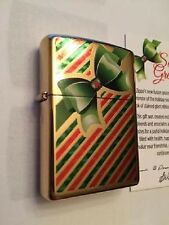 Zippo Seasons Greetings Brass Lighter Card Dealer Only Limited Rare Exclusive