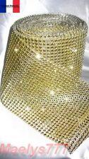 **1Mx4cm . RUBAN STRASS doré** .décoration mariage soirée Noël chemin de table