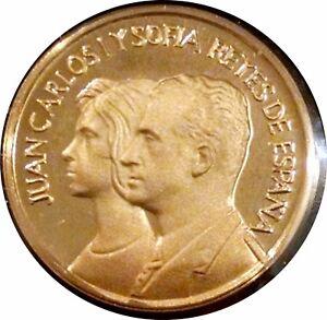 SPAIN 1975 GOLD DUCAT ~ JUAN CARLOS & SOFIA 22K PROOF IN ORIGINAL CASE WITH COA