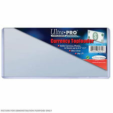 """Ultra-Pro 3"""" x 6.5"""" (165mm x 76mm) Currency Toploader 25 Pack - Ultra Clear"""