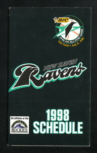 New Haven Ravens--1998 Pocket Schedule--Finlay Sports--Rockies Affiliate