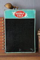 Original Double Cola Sign Menu Board Chalkboard Metal Vintage Soda Pop Old