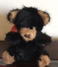 """Vtg Rare Bear 1982 7"""" Mink Teddy Bear Black Third Generation"""