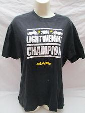 Ski Doo 2008 Light Weight Champion Snowmobile Black T-Shirt Large Bombardier