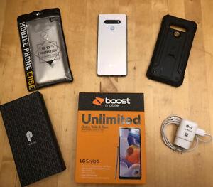 LG Stylo 6 LMQ730TM3 - 64GB - White (Boost Mobile) (Single SIM)