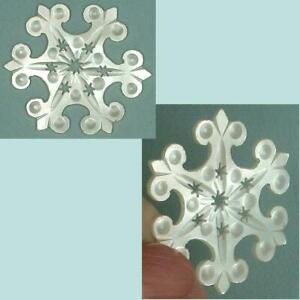 Antique Palais Royal Mother of Pearl Snowflake Thread Winder * Circa 1810-20
