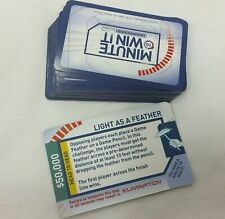 Minute To Win It Board Game Replacement Challenge Cards Deck of 39 Pieces Parts