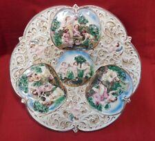 Piatto in ceramica Capodimonte cm 39x39 Antikidea