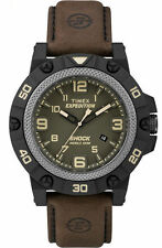 Timex TW4B01200 Men's Expedition Shock Field INDIGLO® Leather Band Analog Watch