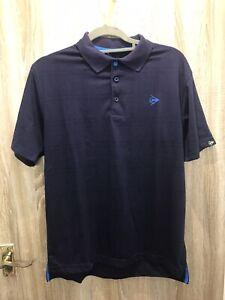 DUNLOP Men's Golf Tennis Sport Polo Shirt Small Blue Embroidered Logo