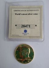 1968 Kennedy Half-Dollar Gold Plated Extremely Fine/Cert of Authenticity
