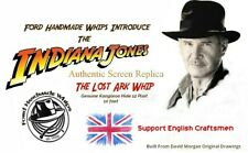 Collectors Replica Of Indiana Jones Bullwhip 10 Ft Version As Used In Movie