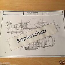 Maßplan Bodengruppe Porsche Modell 911