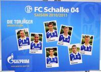 Postkarte Fußball + FC Schalke 04 + Die Torjäger der Saison 2010/2011 + #190418