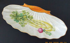 VINTAGE NORITAKE (M) CHINA ORANGE  WHITE LUSTER HANDPAINTED CELERY SERVING DISH