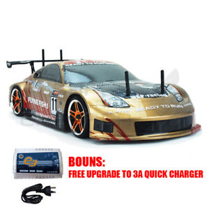 Hsp Remote Control 1/10 Brushless Motor On Road Drifting Rc Car Nissan 370Z Gold
