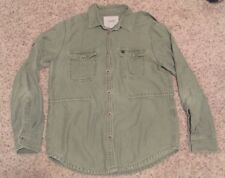 OBEY Propeganda Military Lapel Jacket Overcoat Olive Green w/ Andre Pin Sz Large