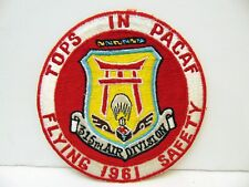 Large Vietnam Era USAF 315th Air Division PACAF Flying Safety Patch, Ace Novelty